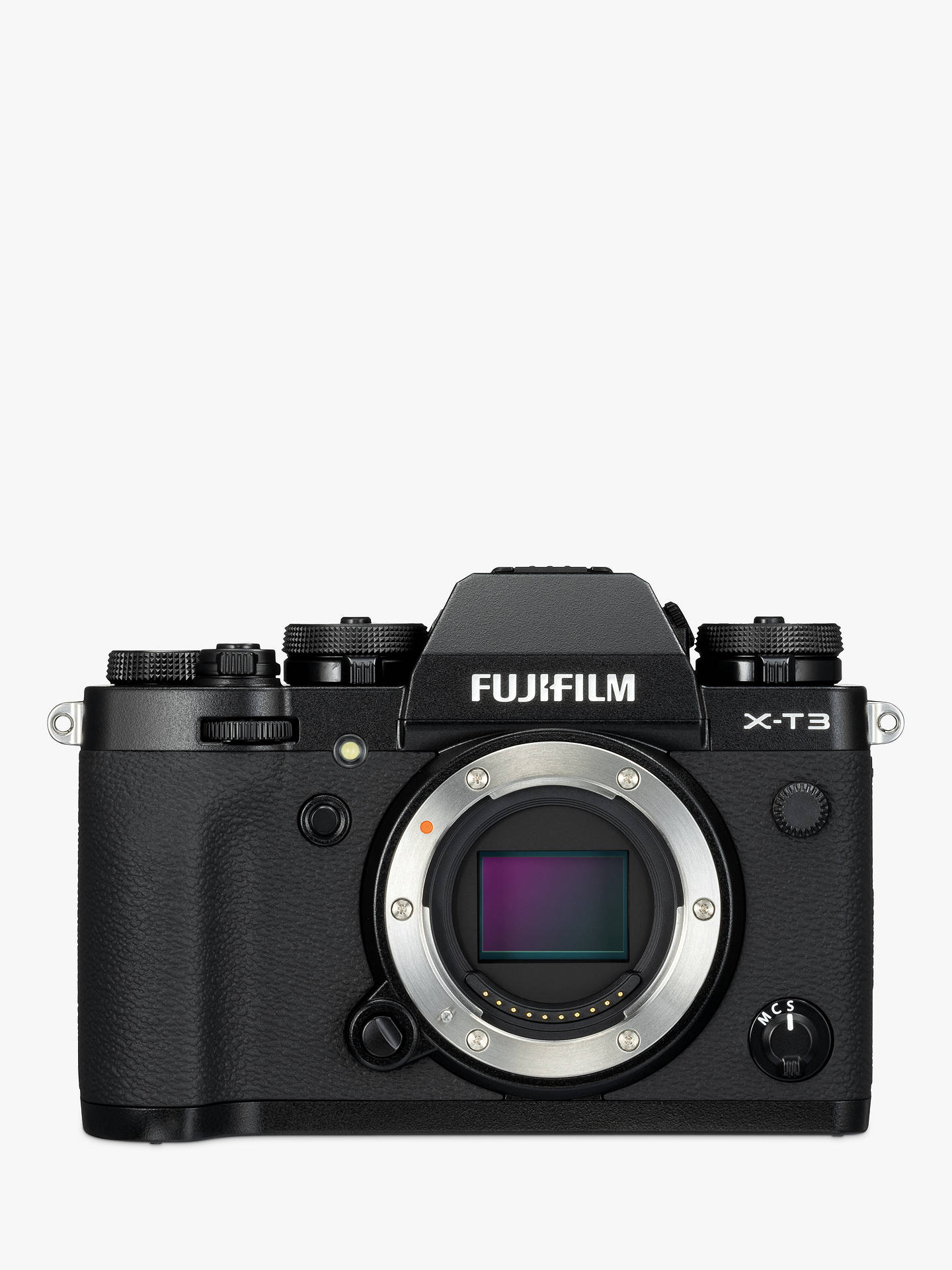 "Buy Fujifilm X-T3 Compact System Camera with XF 18-55mm IS Lens, 4K Ultra HD, 26.1MP, Wi-Fi, OLED EVF, 3"" LCD Touch Screen, Black Online at johnlewis.com"
