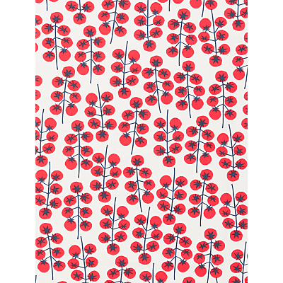 John Lewis & Partners Tomatoes PVC Tablecloth Fabric, Red