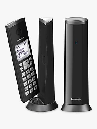"Panasonic KX-TGK222EB Digital Cordless Telephone with 1.5"" LCD Screen, Nuisance Call Blocker and Answering Machine, Twin DECT, Black"