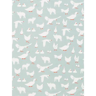 John Lewis & Partners Farm Animals PVC Tablecloth Fabric, Blue