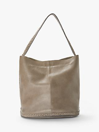 6491bffb090 Exclusive to John Lewis   Partners. AND OR Isabella Leather Whipstitch  Bucket Bag