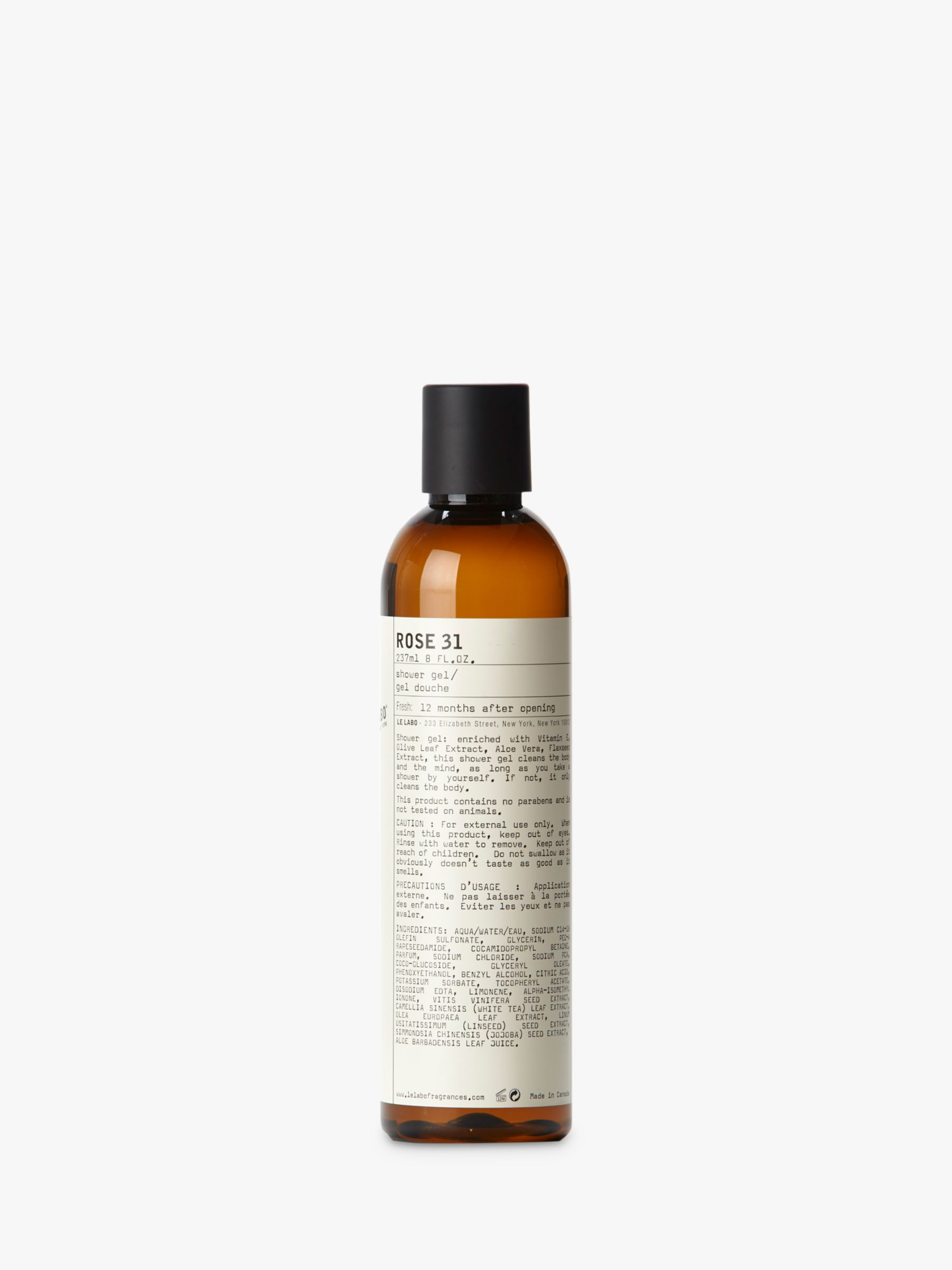 Buy Le Labo Rose 31 Shower Gel, 237ml Online at johnlewis.com