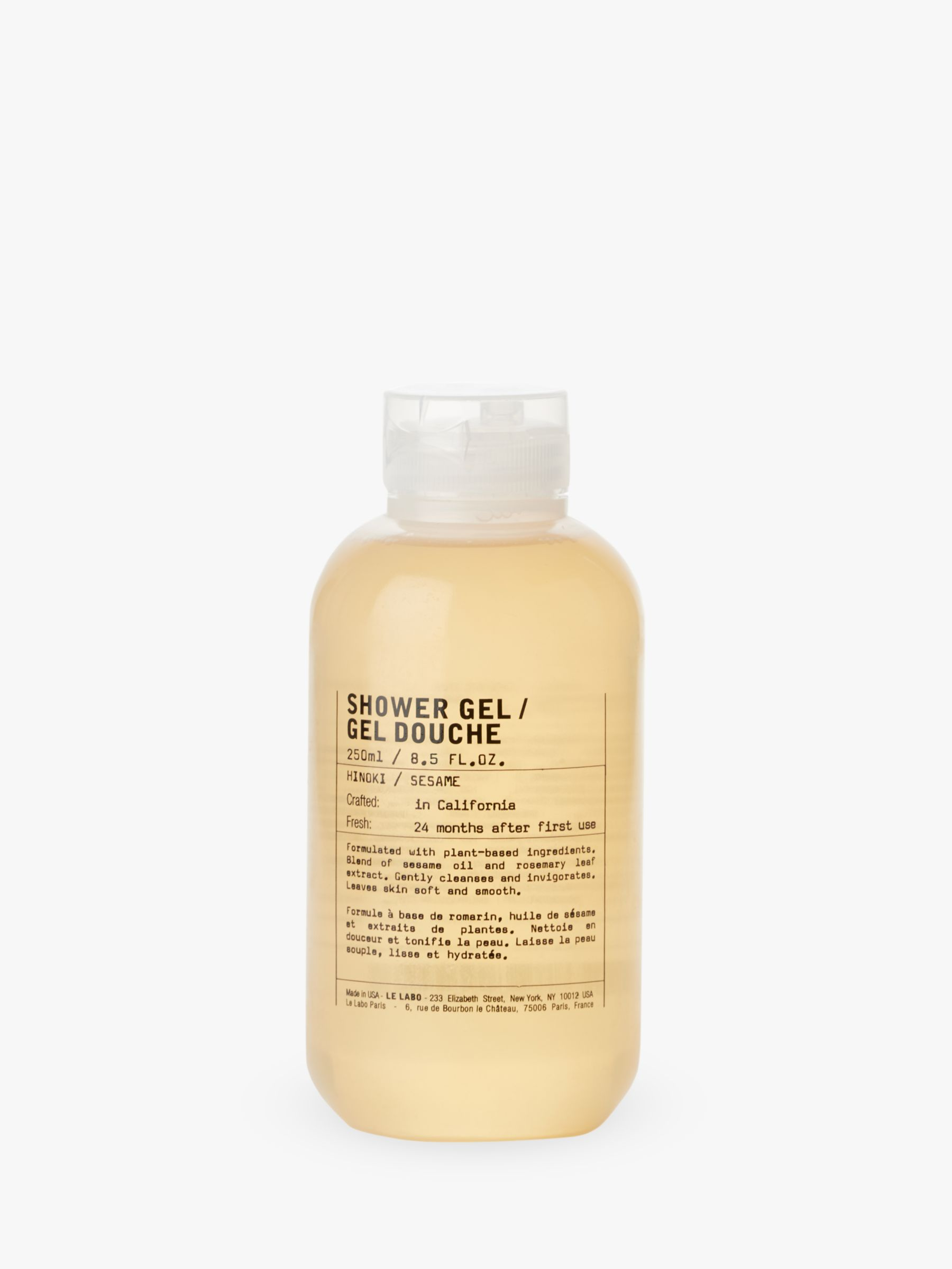 Le Labo Hinoki Shower Gel 250ml At John Lewis Partners