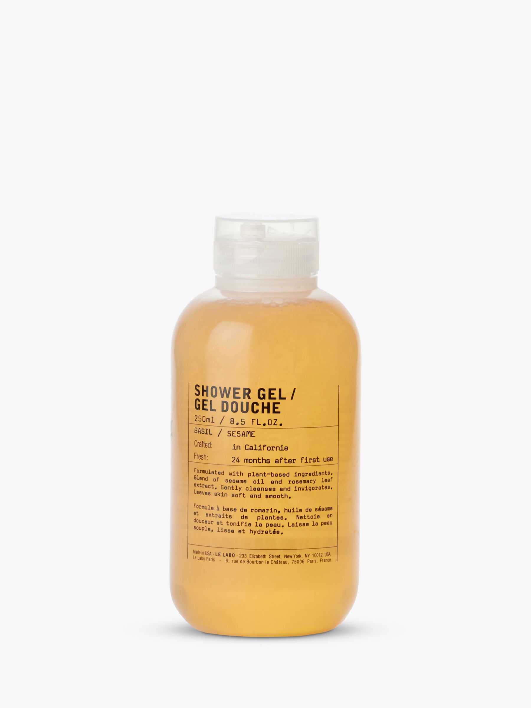 Le Labo Basil Shower Gel 250ml At John Lewis Partners