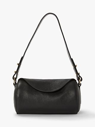 John Lewis Partners Eliza Leather Mini Barrel Shoulder Bag