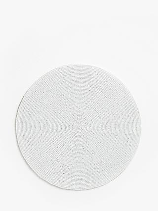 John Lewis & Partners Round Beaded Coasters, Set of 4