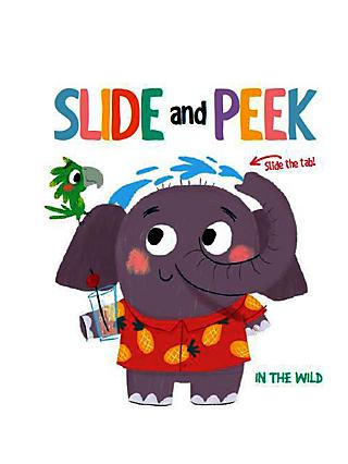 Slide and Peek In the Wild Children's Book