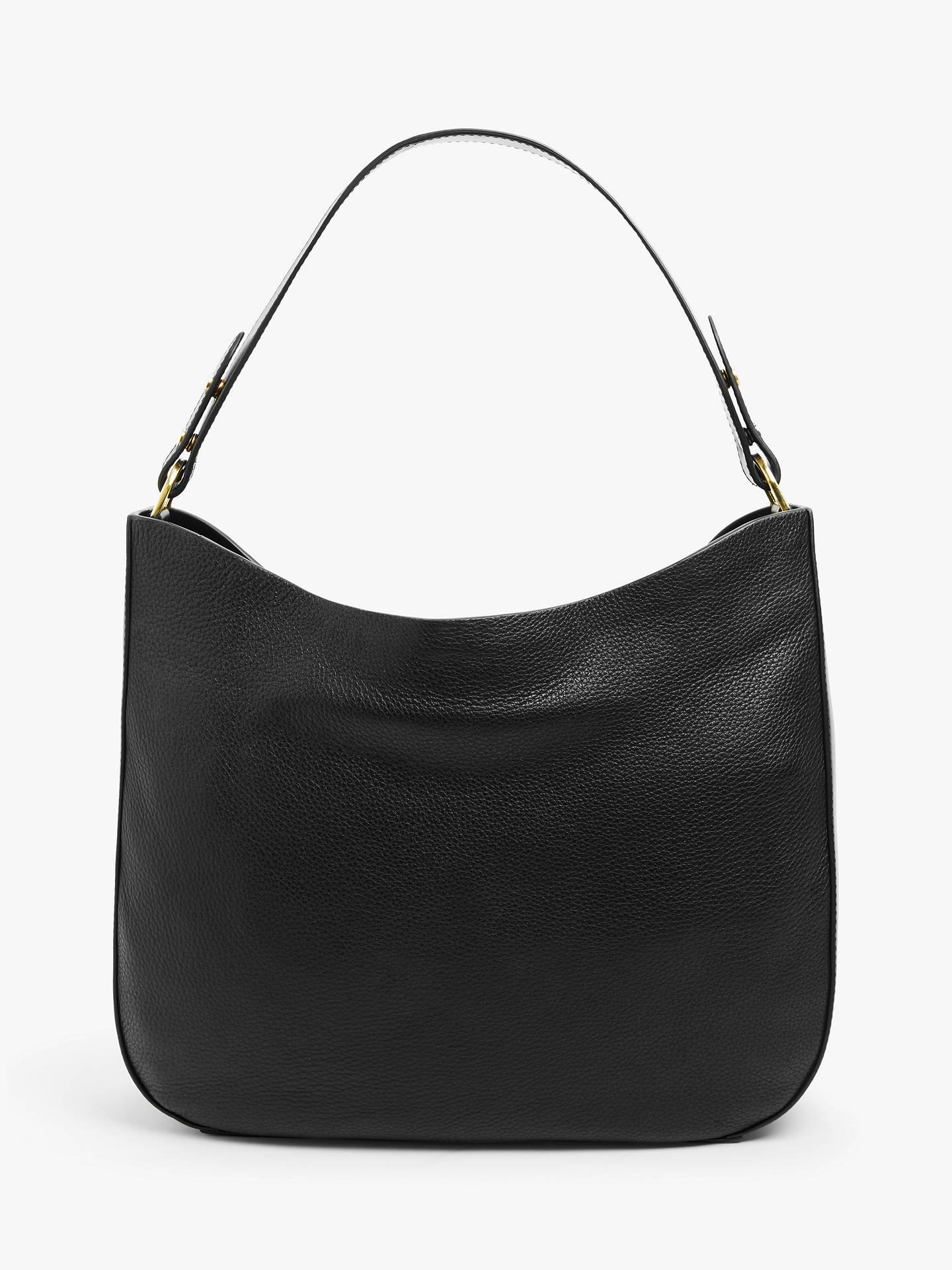 f9209b55494d Buy John Lewis & Partners Freya Leather Hobo Bag, Black Online at  johnlewis. ...