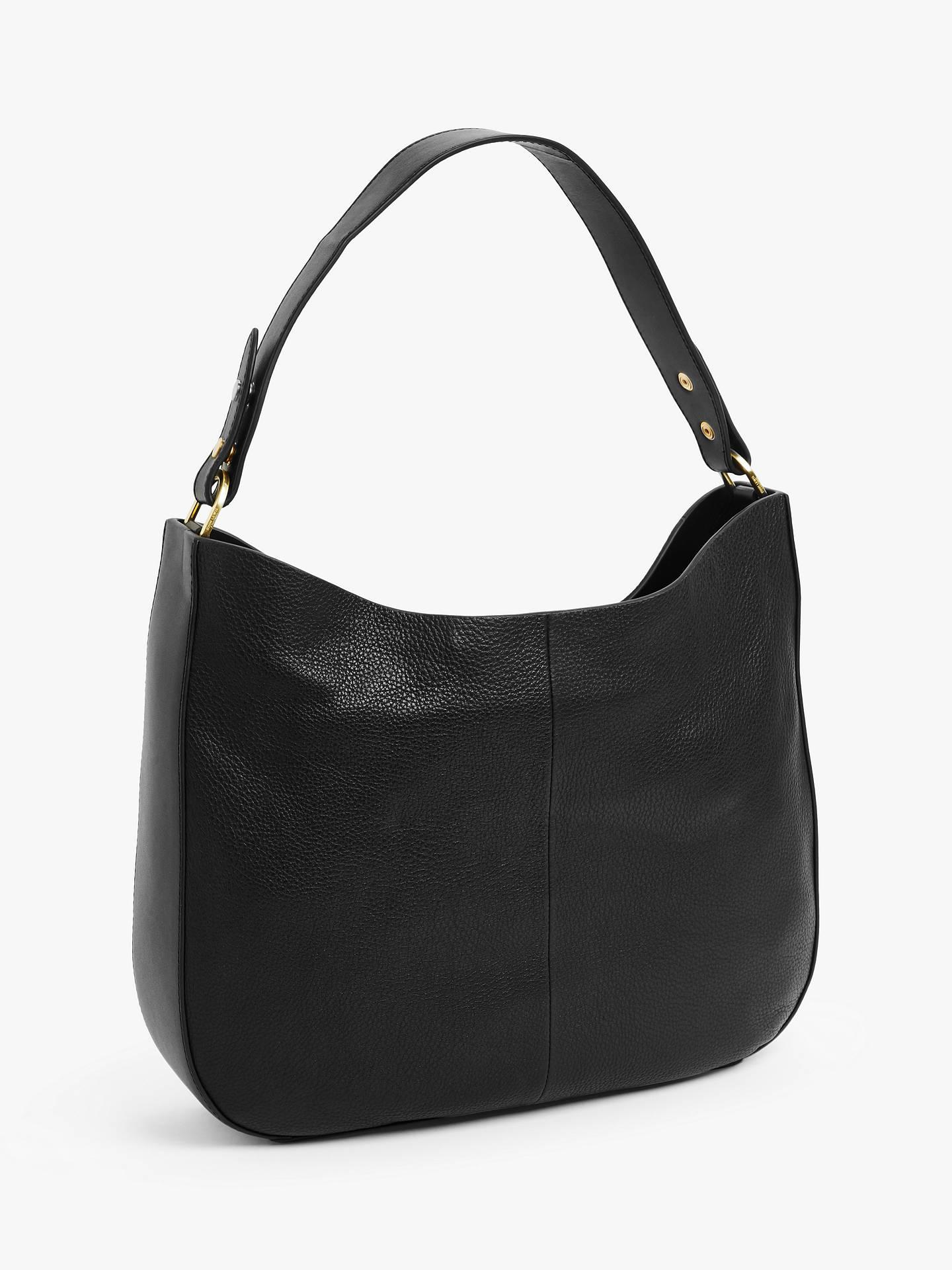 67688bc22755 ... Buy John Lewis & Partners Freya Leather Hobo Bag, Black Online at  johnlewis. ...