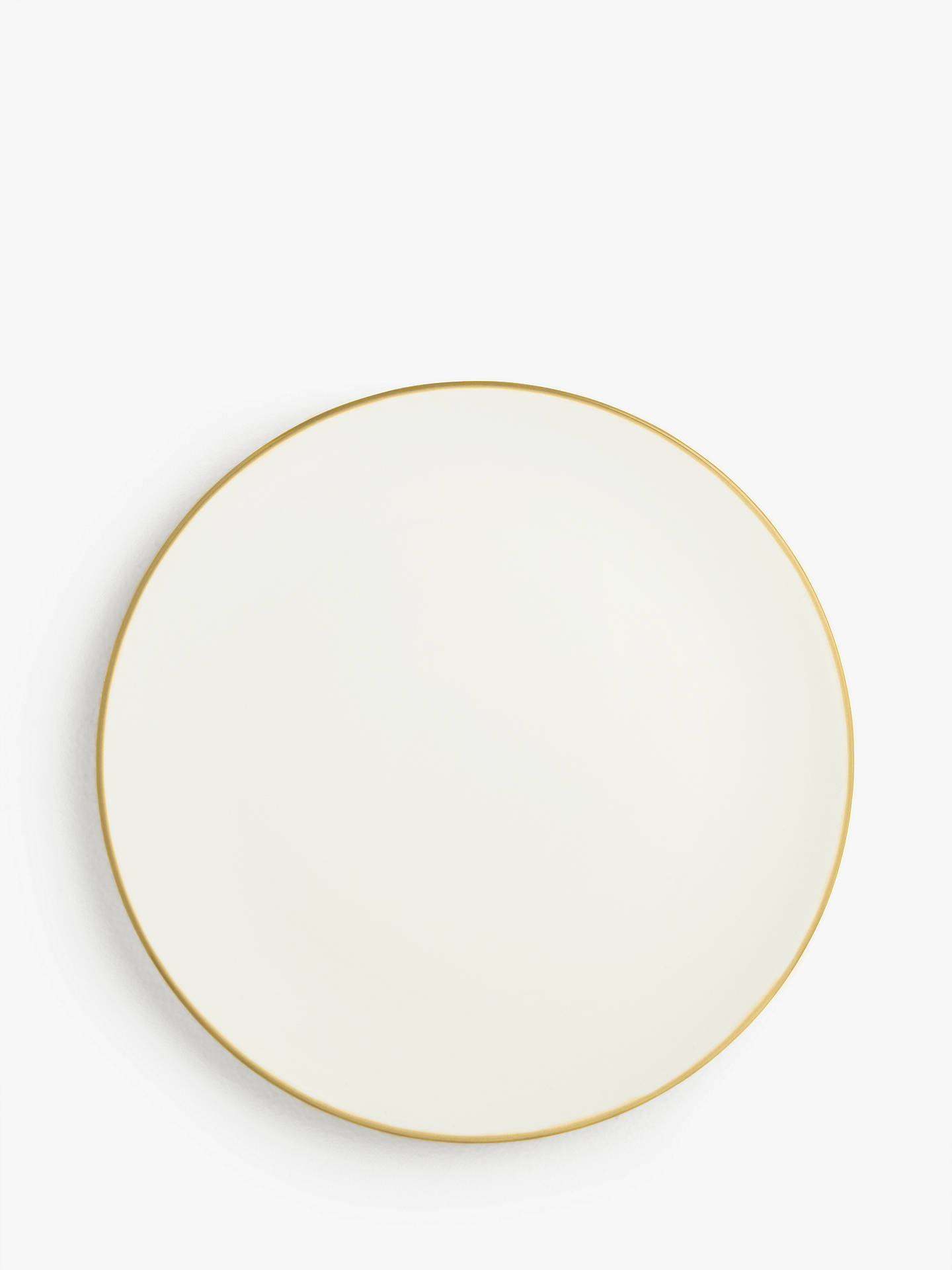 Buy House by John Lewis Stoneware Dinner Plates, Set of 4, Yellow Online at johnlewis.com