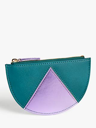 John Lewis & Partners Geometric Purse, Green/Orchid