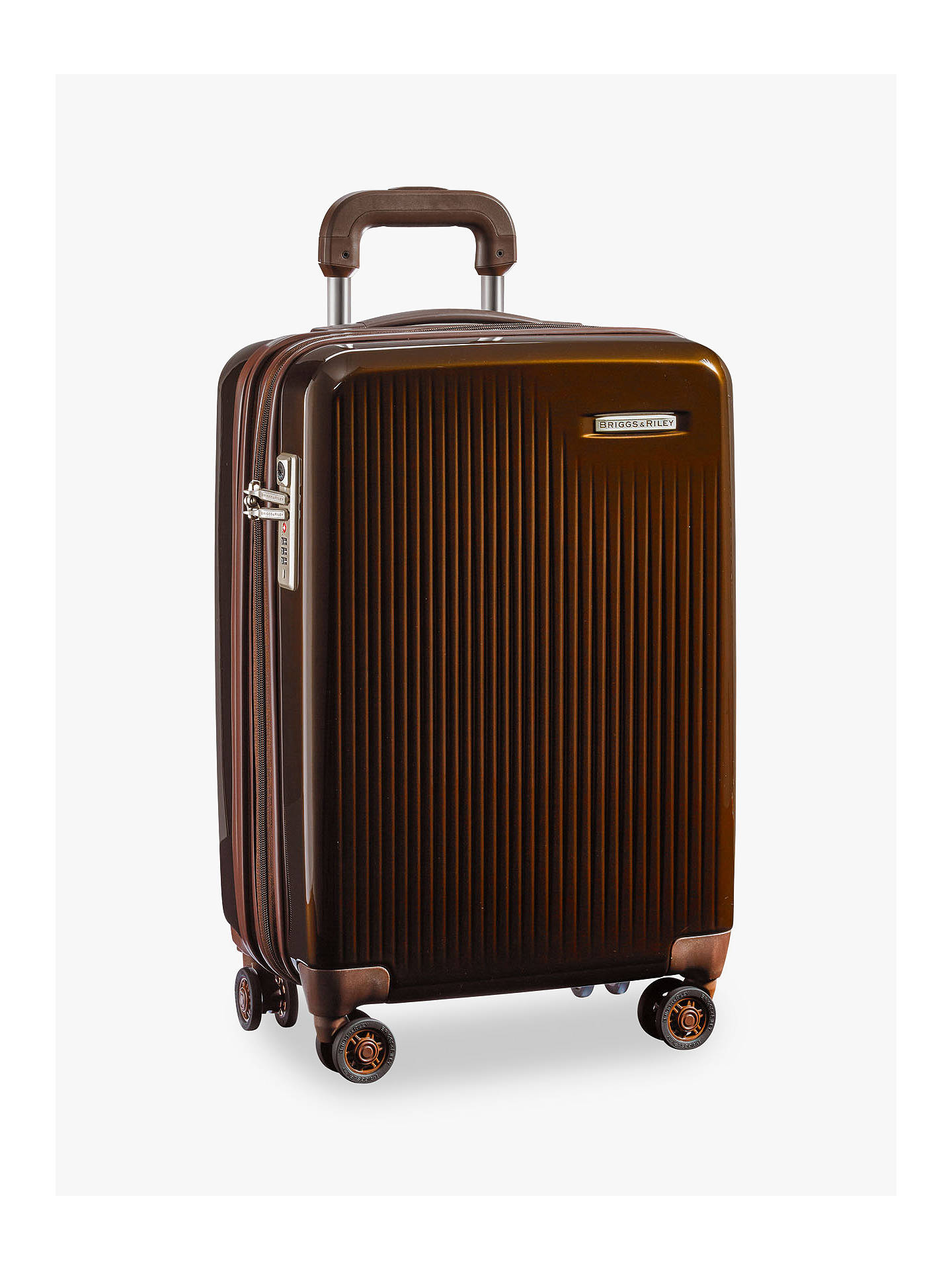 Buy Briggs & Riley Sympatico 4-Wheel Expandable Domestic Cabin Suitcase, Bronze Online at johnlewis.com