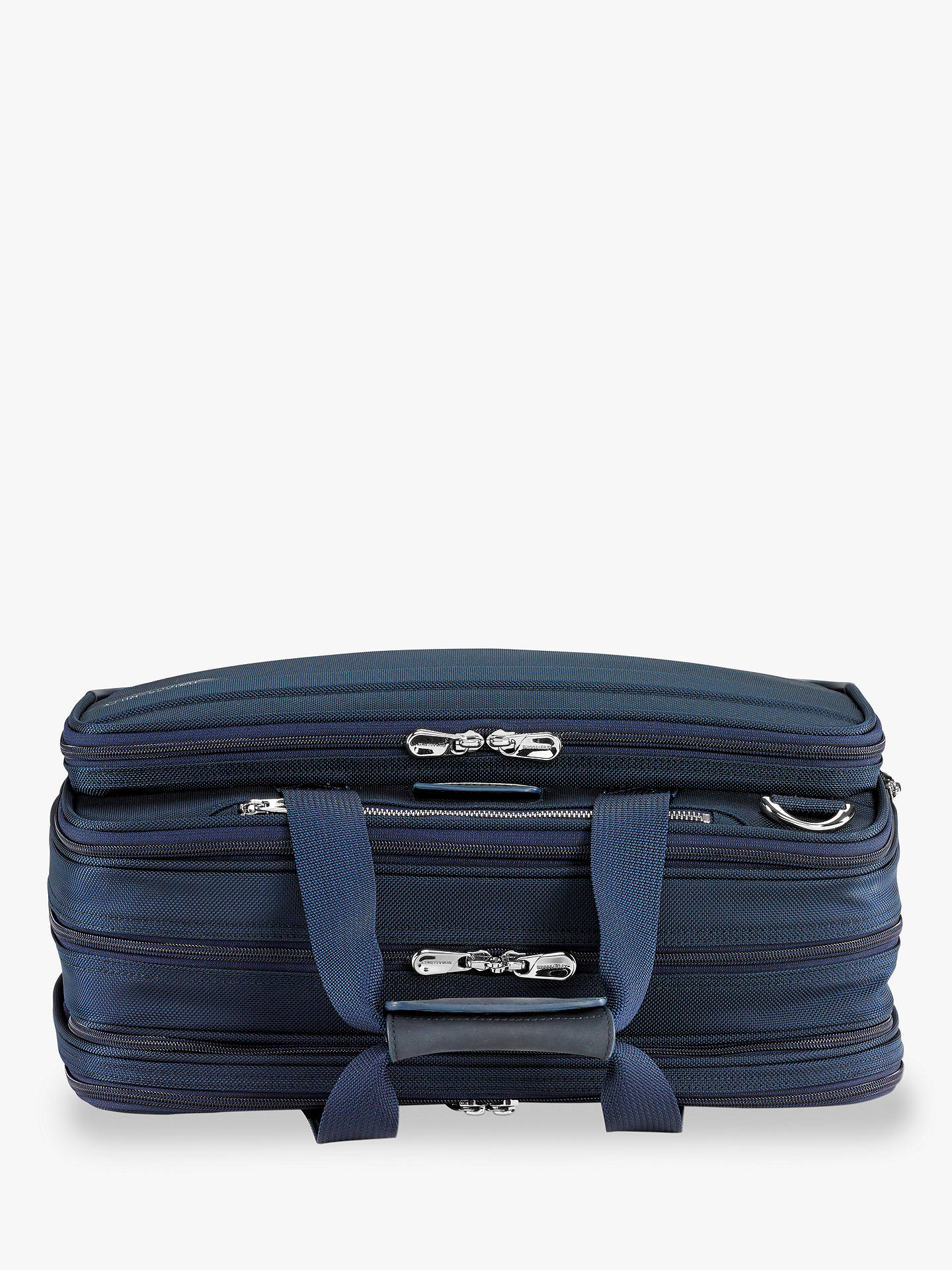 BuyBriggs & Riley Baseline Expandable Cabin Bag, Navy Online at johnlewis.com