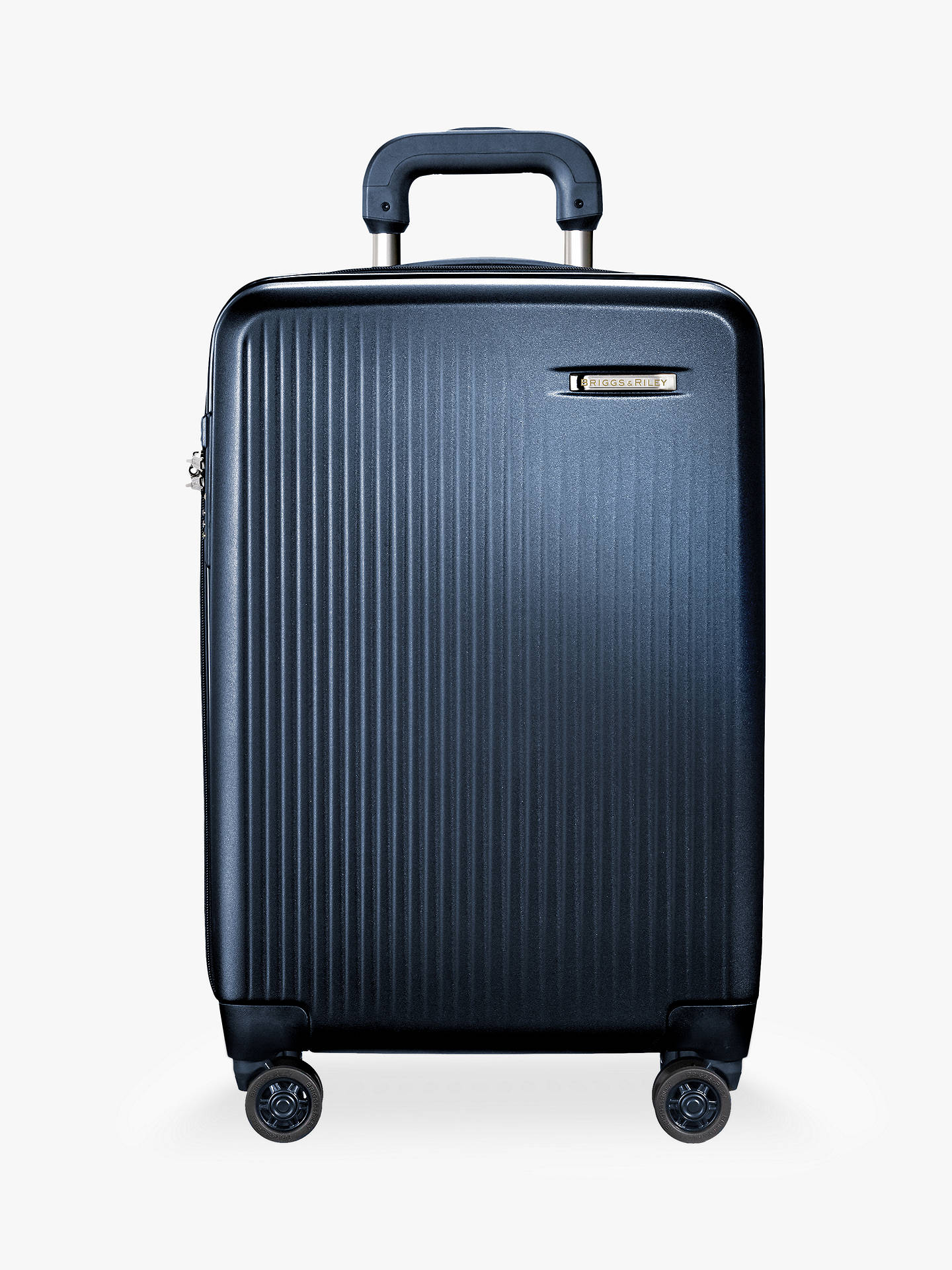 Buy Briggs & Riley Sympatico 4-Wheel Expandable Domestic Cabin Suitcase, Matte Navy Online at johnlewis.com