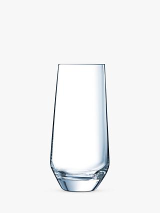 Eclat Cristal d'Arques Paris Ultime Highball Glasses, Set of 6, 450ml, Clear