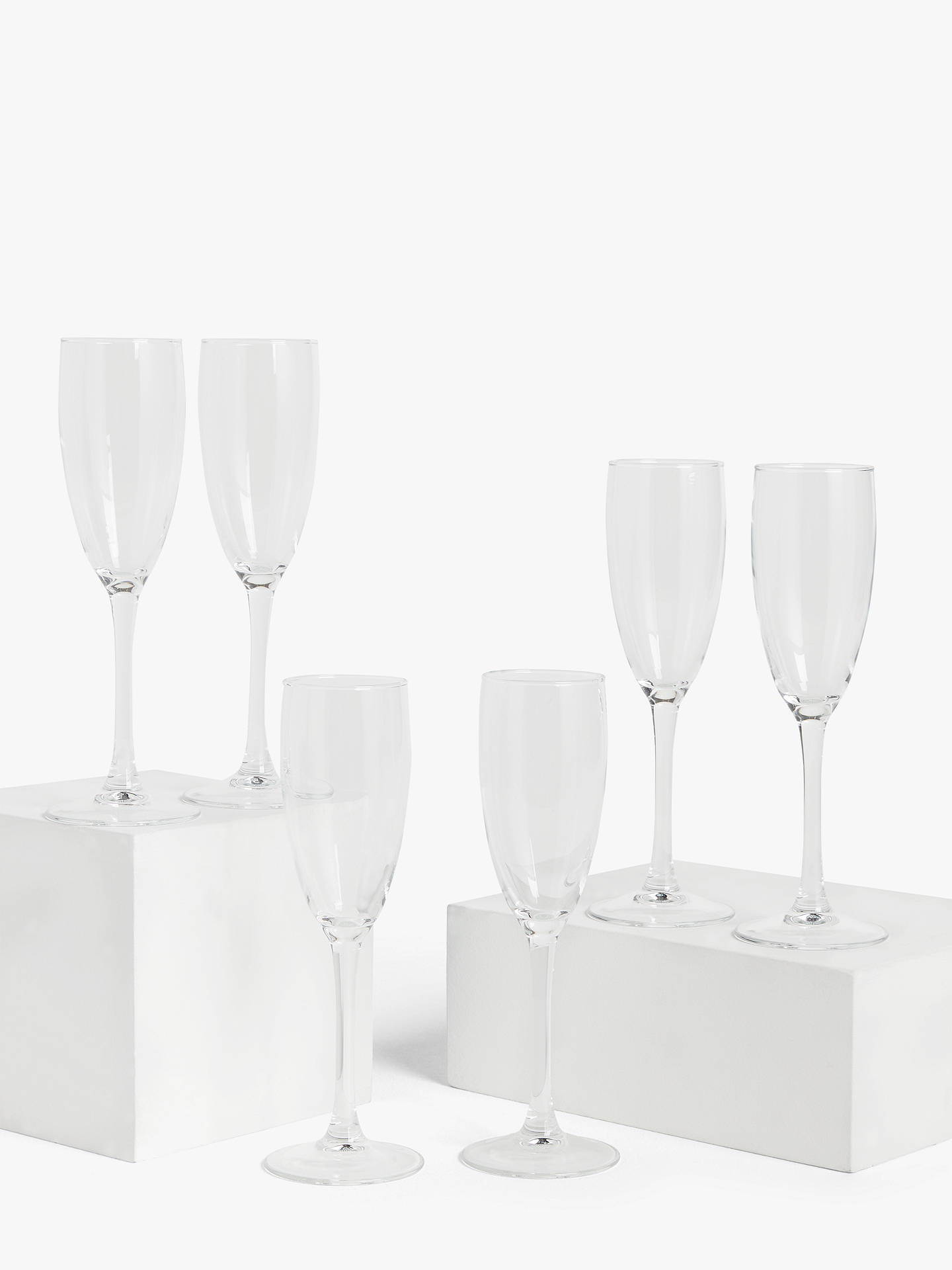 Buy House by John Lewis Champagne Flutes, Set of 6, 170ml Online at johnlewis.com