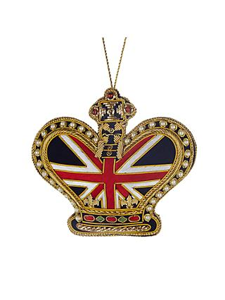 Tinker Tailor Union Jack Crown Tree Decoration