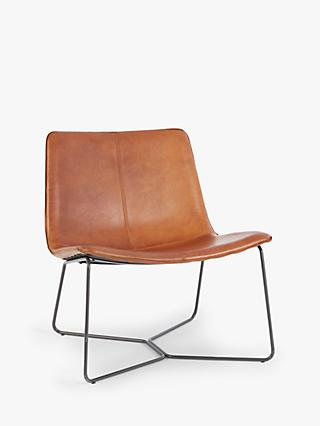 west elm Slope Lounge Chair, Saddle Leather