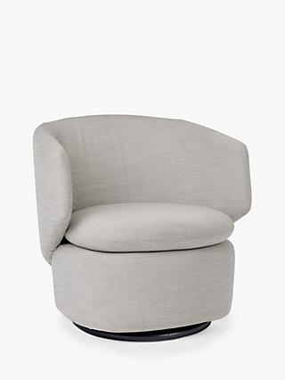 west elm Crescent Swivel Chair, Feather Grey