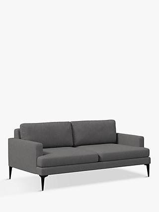 west elm Andes Large 3 Seater Sofa, Granite Twill