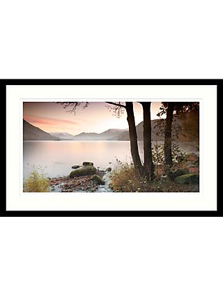 Mike Shepherd - Misty Lake Framed Print & Mount, 64 x 104cm
