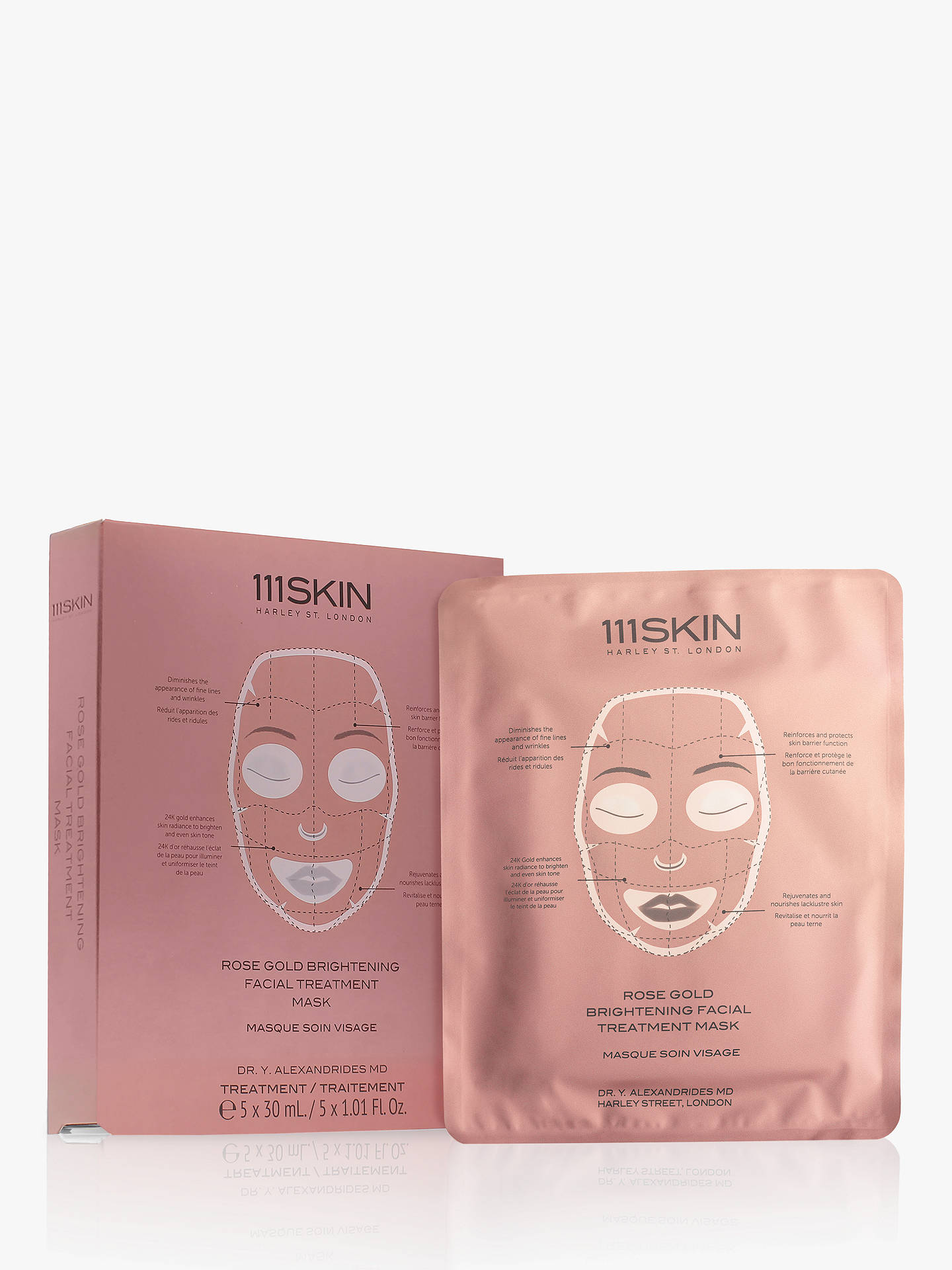 Buy 111SKIN Rose Gold Brightening Facial Treatment Mask, 5 x 30ml Online at johnlewis.com