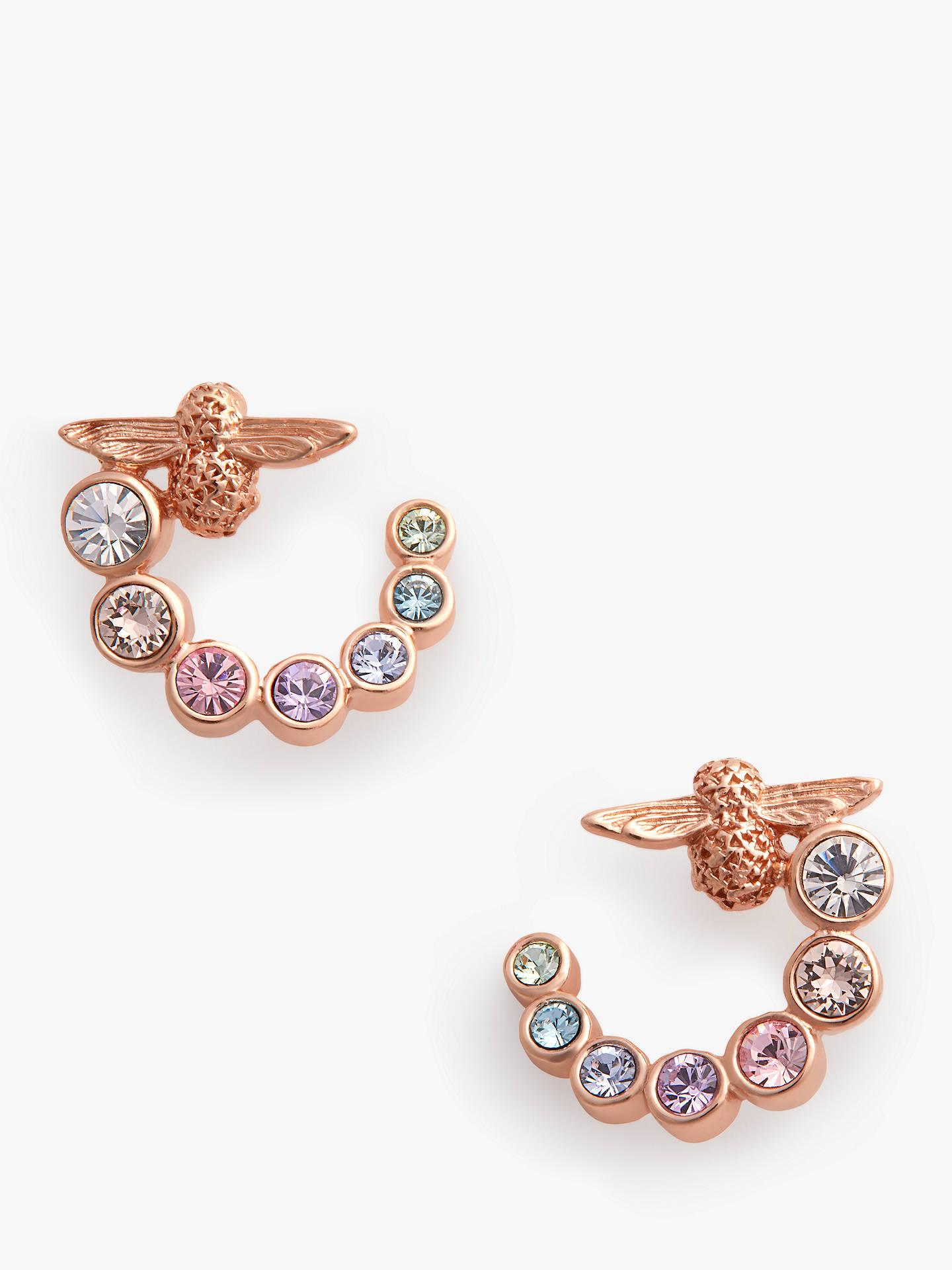 77fc8ab7b Buy Olivia Burton Bee Hoop Earrings, Rose Gold OBJAME126 Online at  johnlewis.com ...
