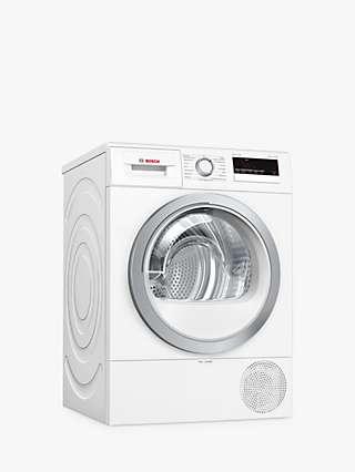 Bosch WTR85V21GB Heat Pump Tumble Dryer, 8kg, A++ Energy Rating