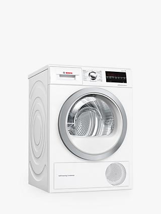 Bosch Serie 6 WTW85493GB Heat Pump Freestanding Tumble Dryer, 8kg Load, A++ Energy Rating, White