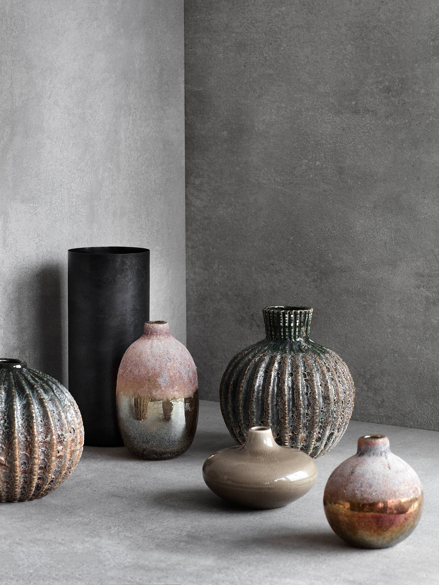 Buy Broste Copenhagen Rustica Stoneware Vase, Medium Online at johnlewis.com