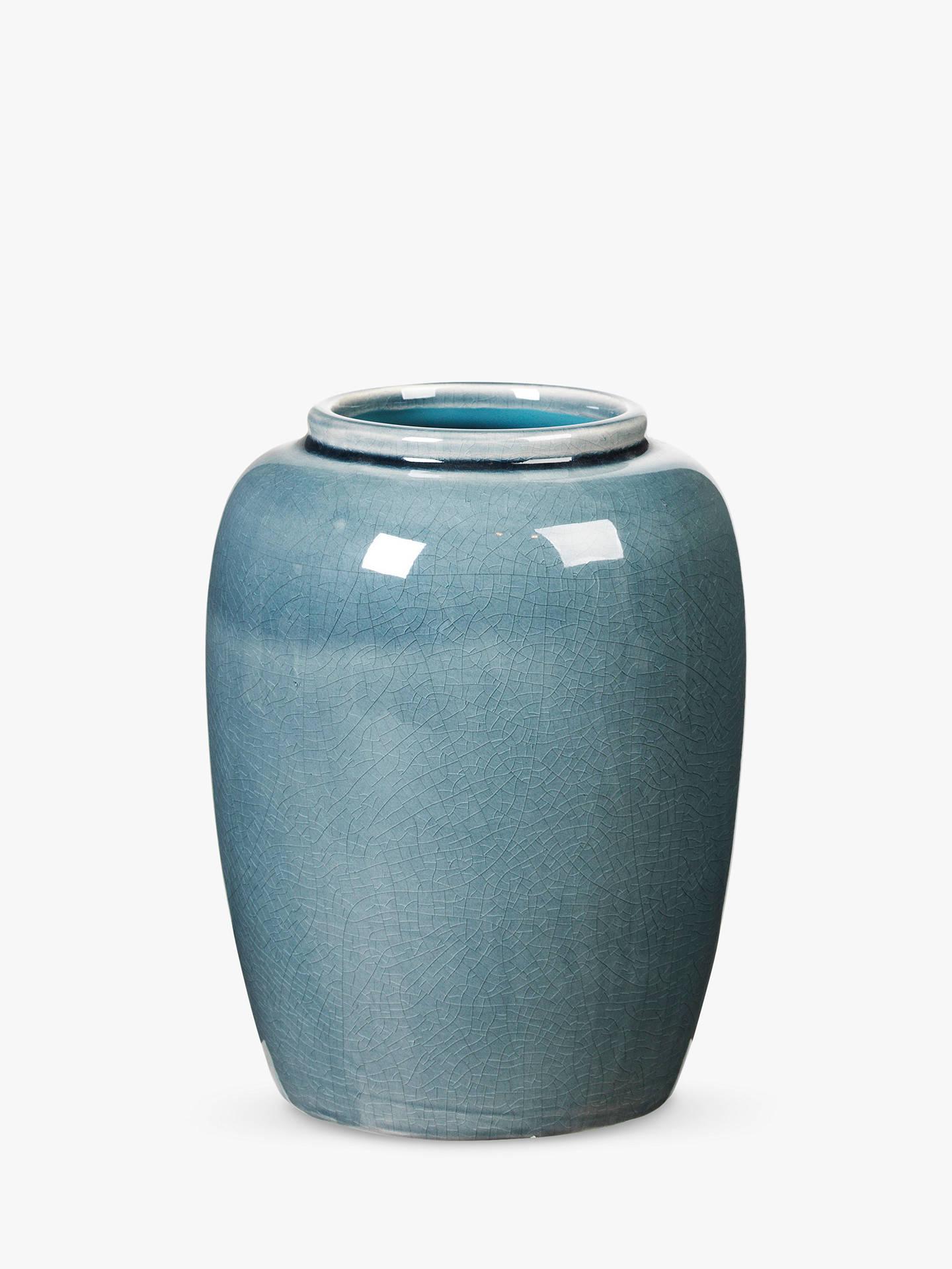 broste copenhagen crackle vase mirage blue at john lewis. Black Bedroom Furniture Sets. Home Design Ideas