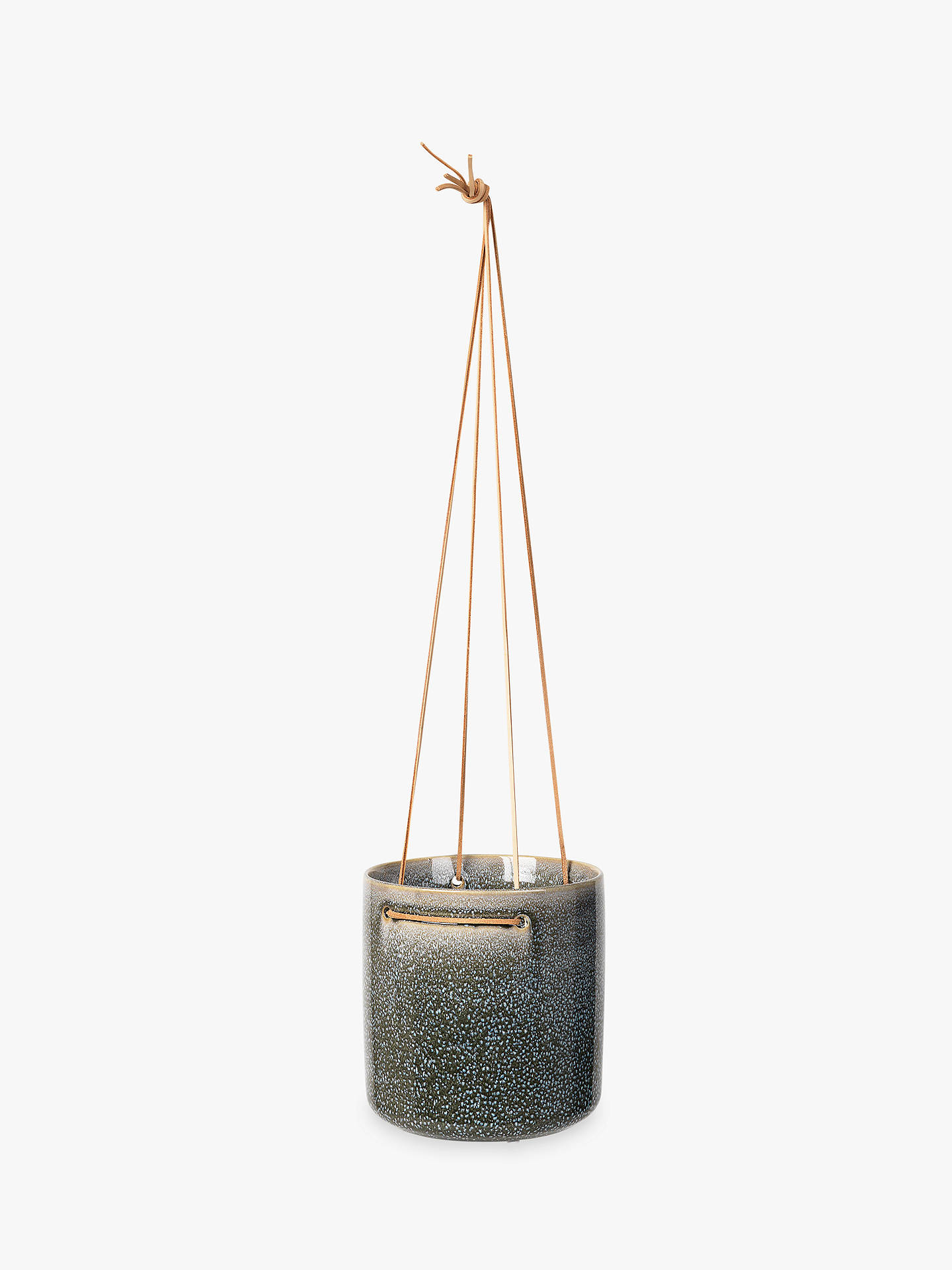 Buy Broste Copenhagen Almas Large Hanging Pot, Magnet Grey Online at johnlewis.com