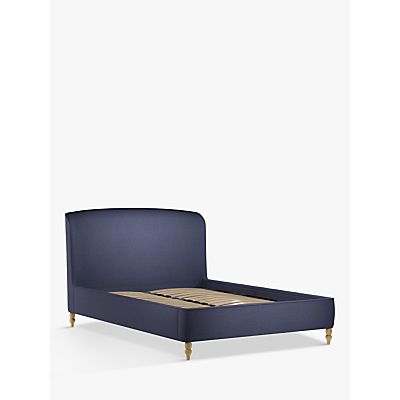 Croft Collection Skye Upholstered Bed Frame, King Size, Mole Navy
