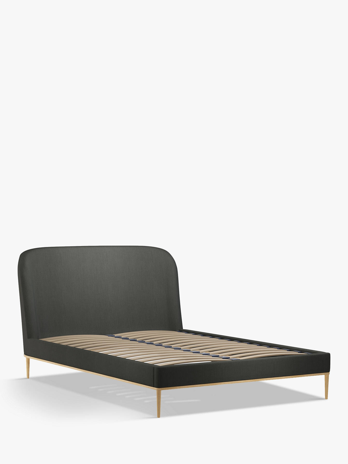 Buy John Lewis & Partners Show-Wood Upholstered Bed Frame, Double, Topaz Charcoal Online at johnlewis.com