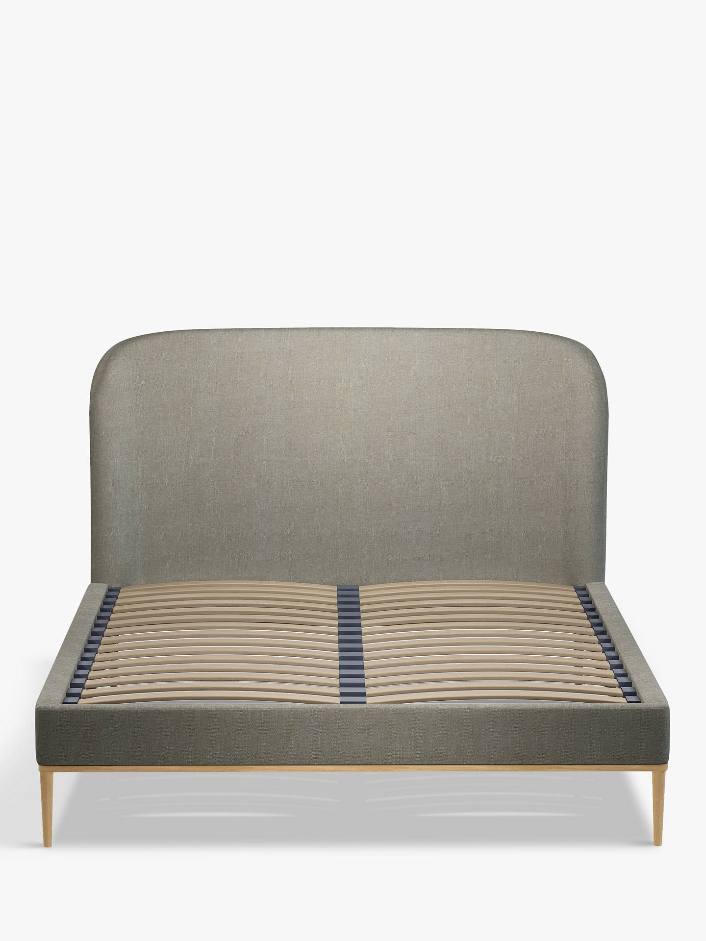 Buy John Lewis & Partners Show-Wood Upholstered Bed Frame, Double, Erin Grey Online at johnlewis.com