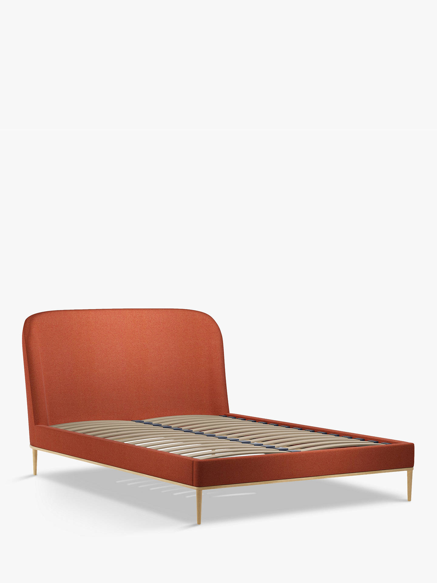 Buy John Lewis & Partners Show-Wood Upholstered Bed Frame, Double, Marylamb Terracotta Online at johnlewis.com