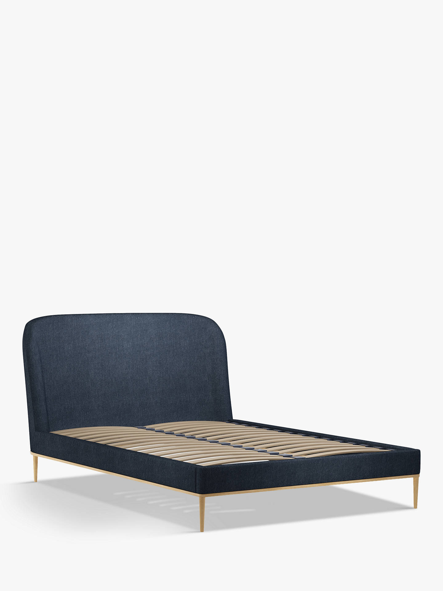 Buy John Lewis & Partners Show-Wood Upholstered Bed Frame, Double, Erin Midnight Online at johnlewis.com