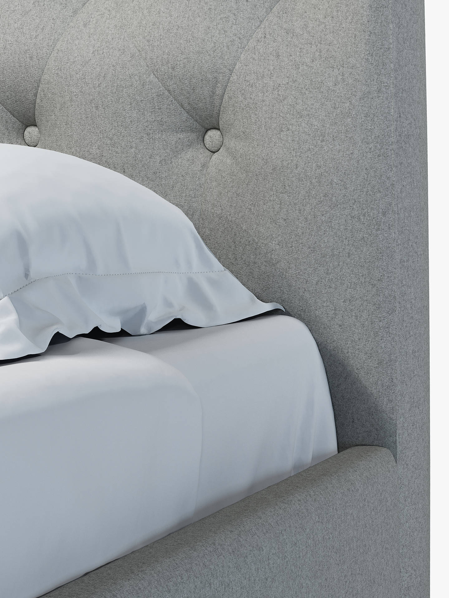 Buy John Lewis & Partners Rouen Upholstered Bed Frame, Double, Mole Grey Online at johnlewis.com