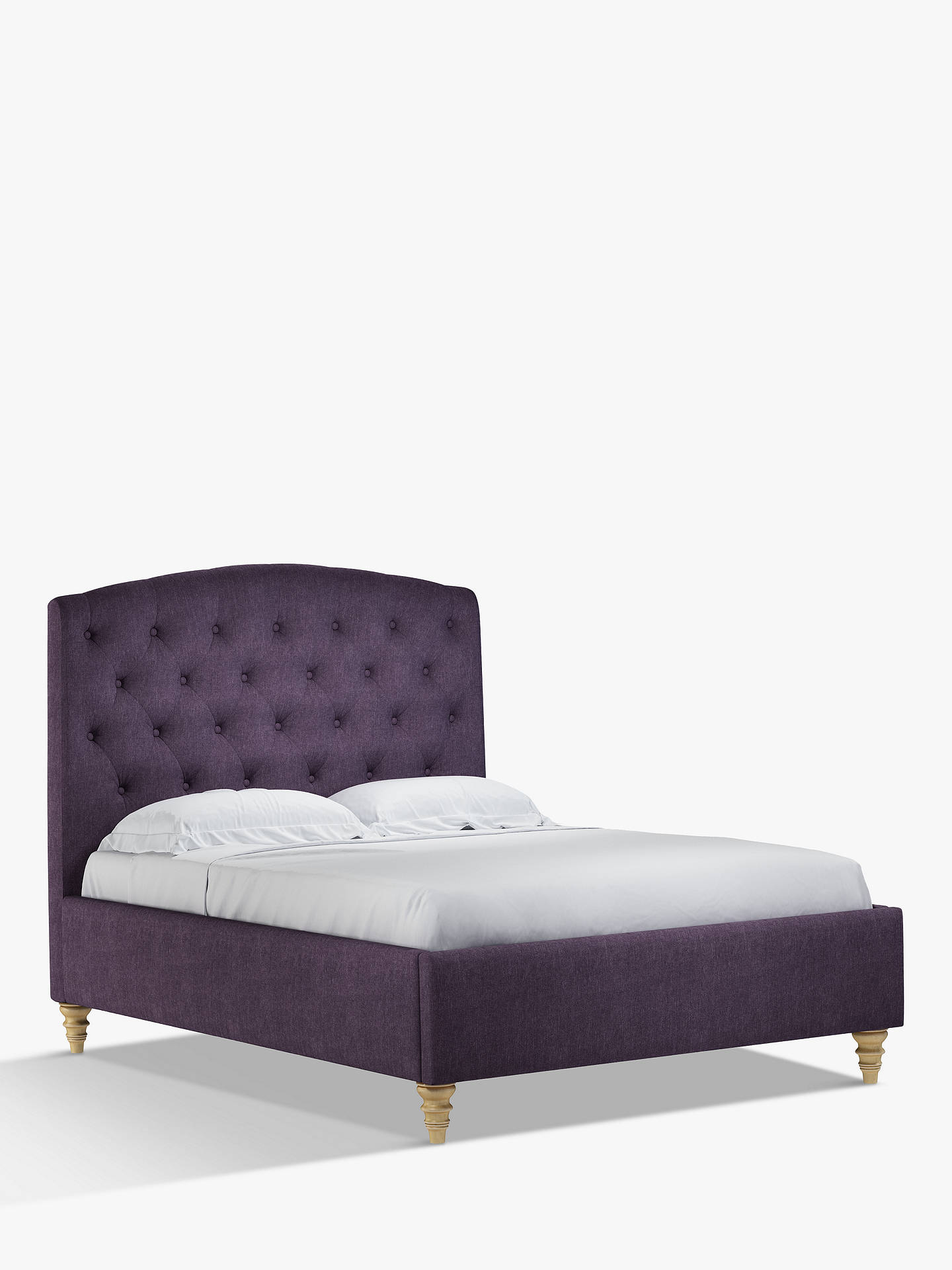 Buy John Lewis & Partners Rouen Upholstered Bed Frame, Double, Erin Damson Online at johnlewis.com