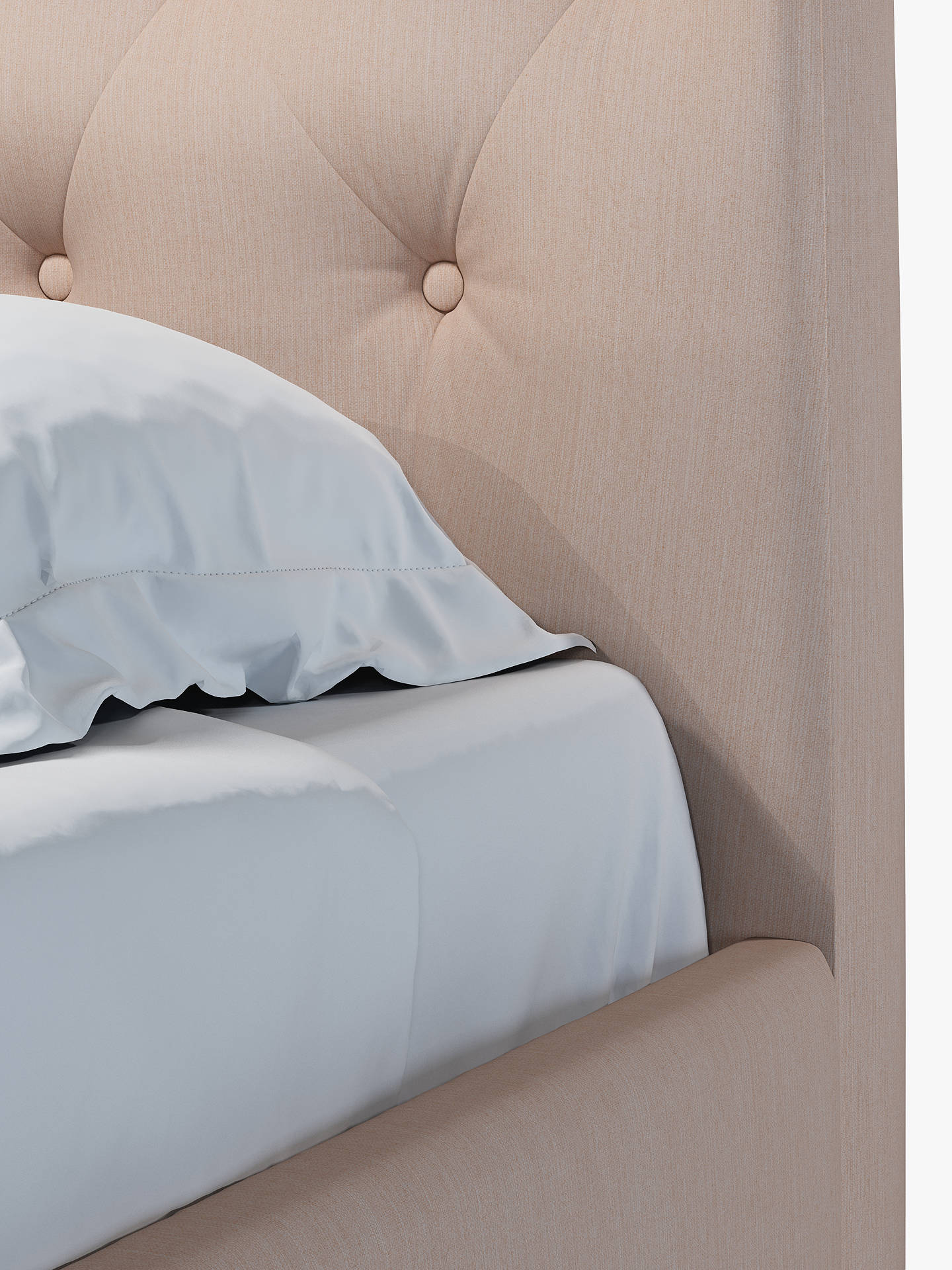 Buy John Lewis & Partners Rouen Upholstered Bed Frame, Double, Topaz Pink Online at johnlewis.com
