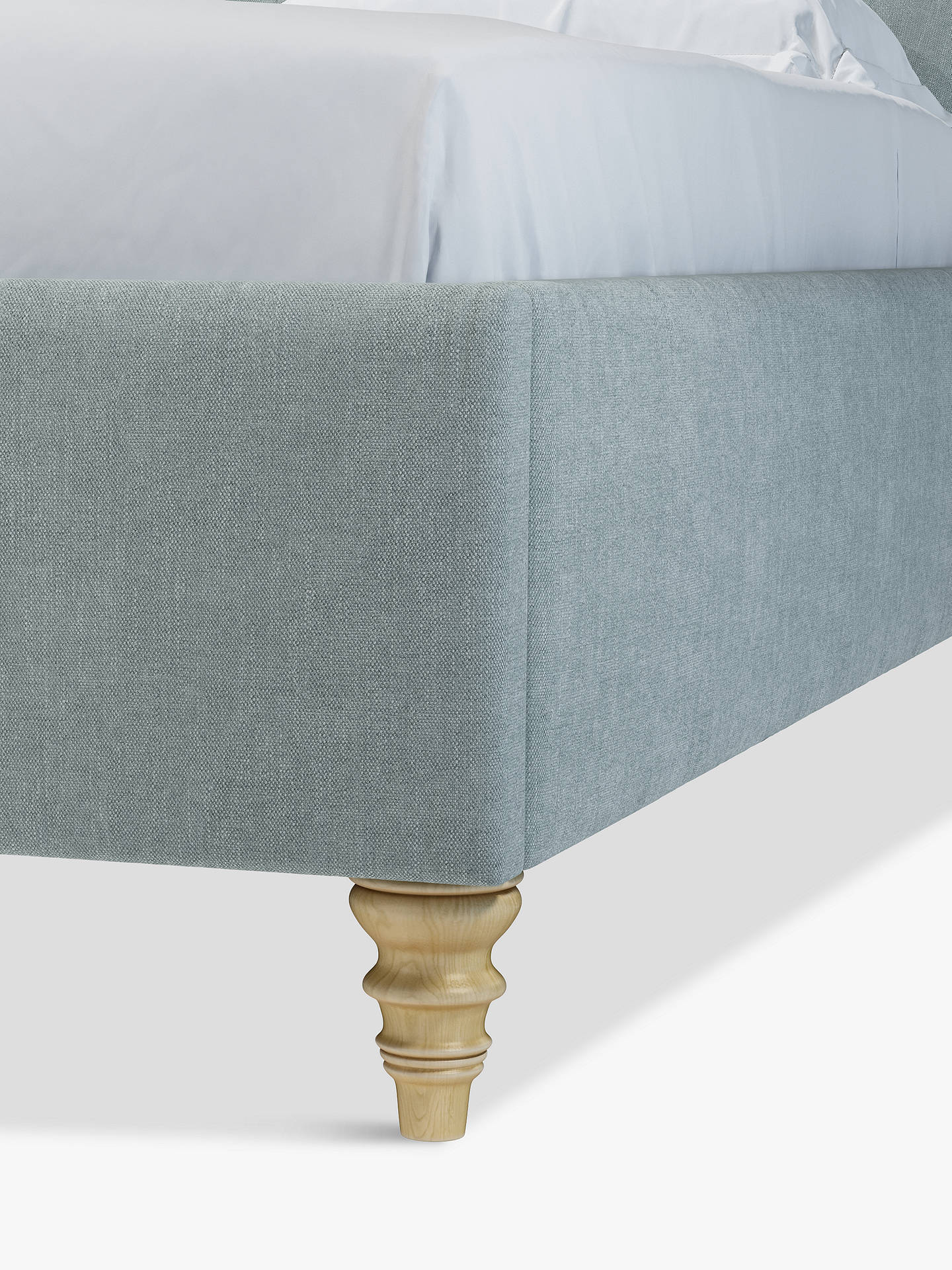 Buy John Lewis & Partners Rouen Upholstered Bed Frame, Double, Erin Duck Egg Online at johnlewis.com