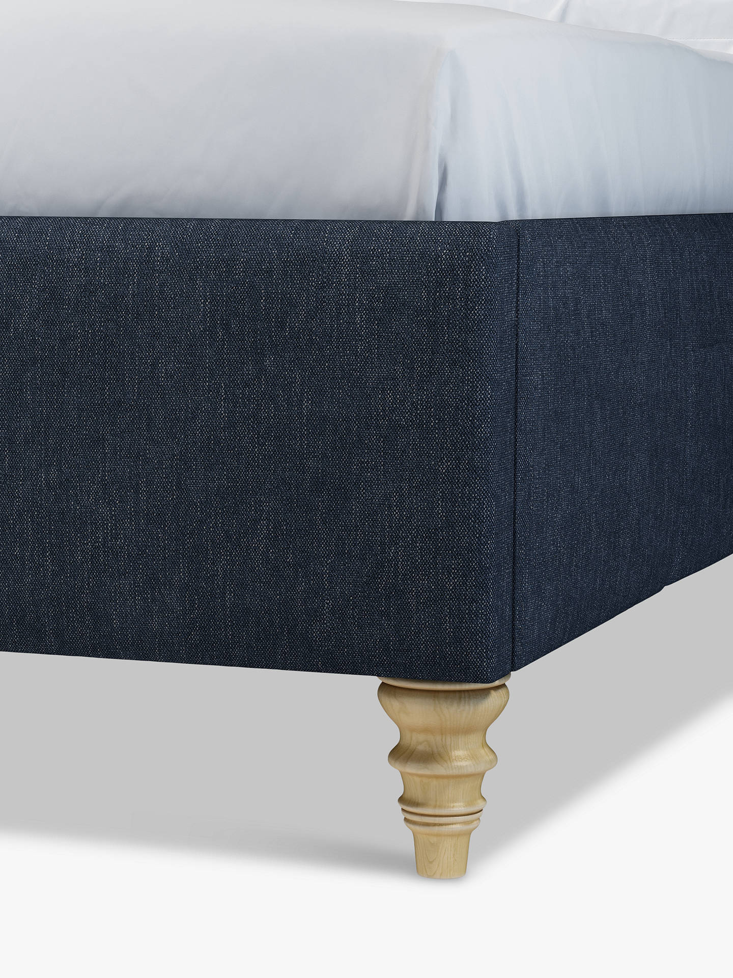 Buy John Lewis & Partners Rouen 2 Drawer Storage Upholstered Bed Frame, Double, Erin Midnight Online at johnlewis.com