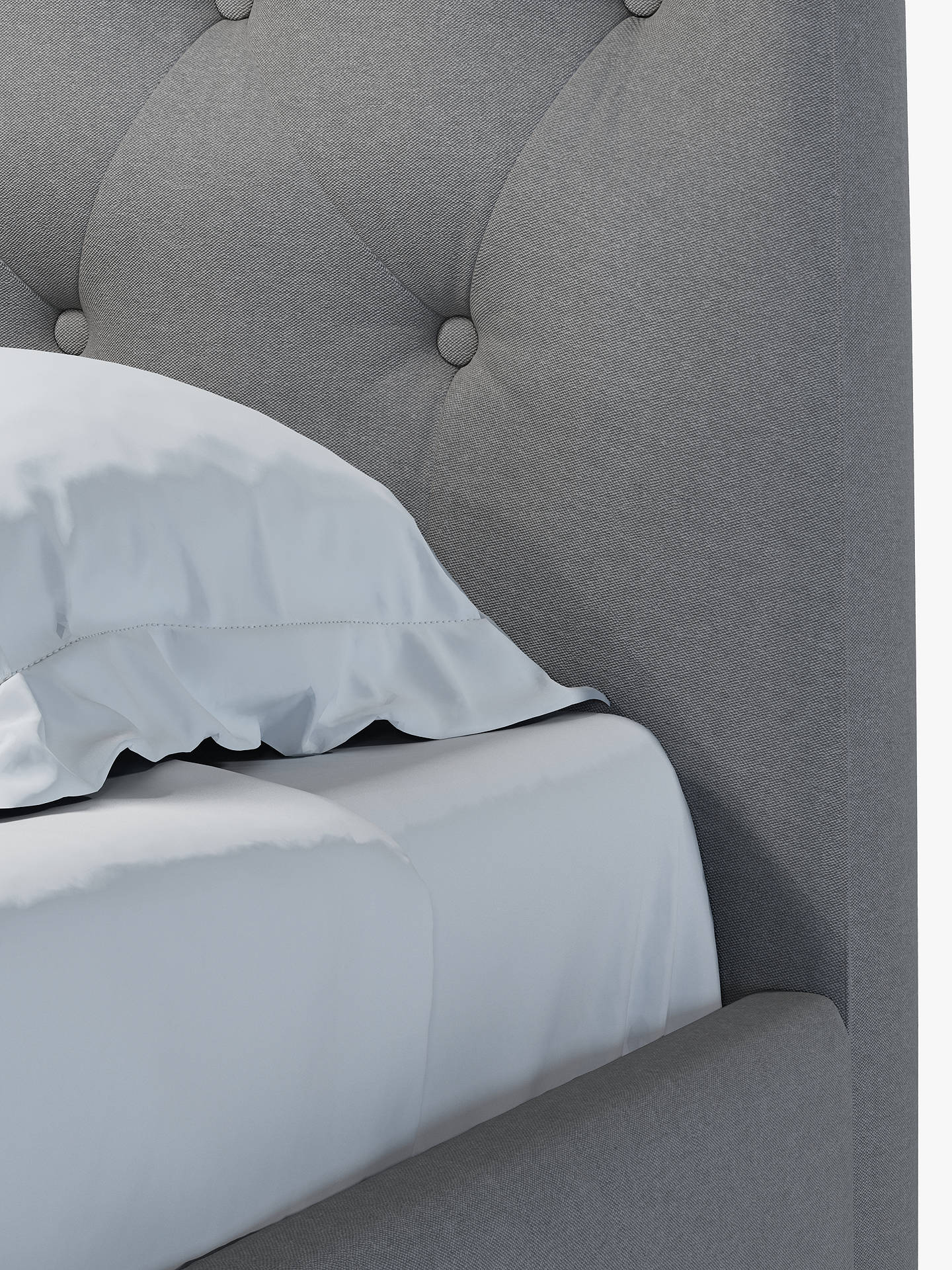 Buy John Lewis & Partners Rouen Upholstered Bed Frame, Double, Marylamb Storm Online at johnlewis.com