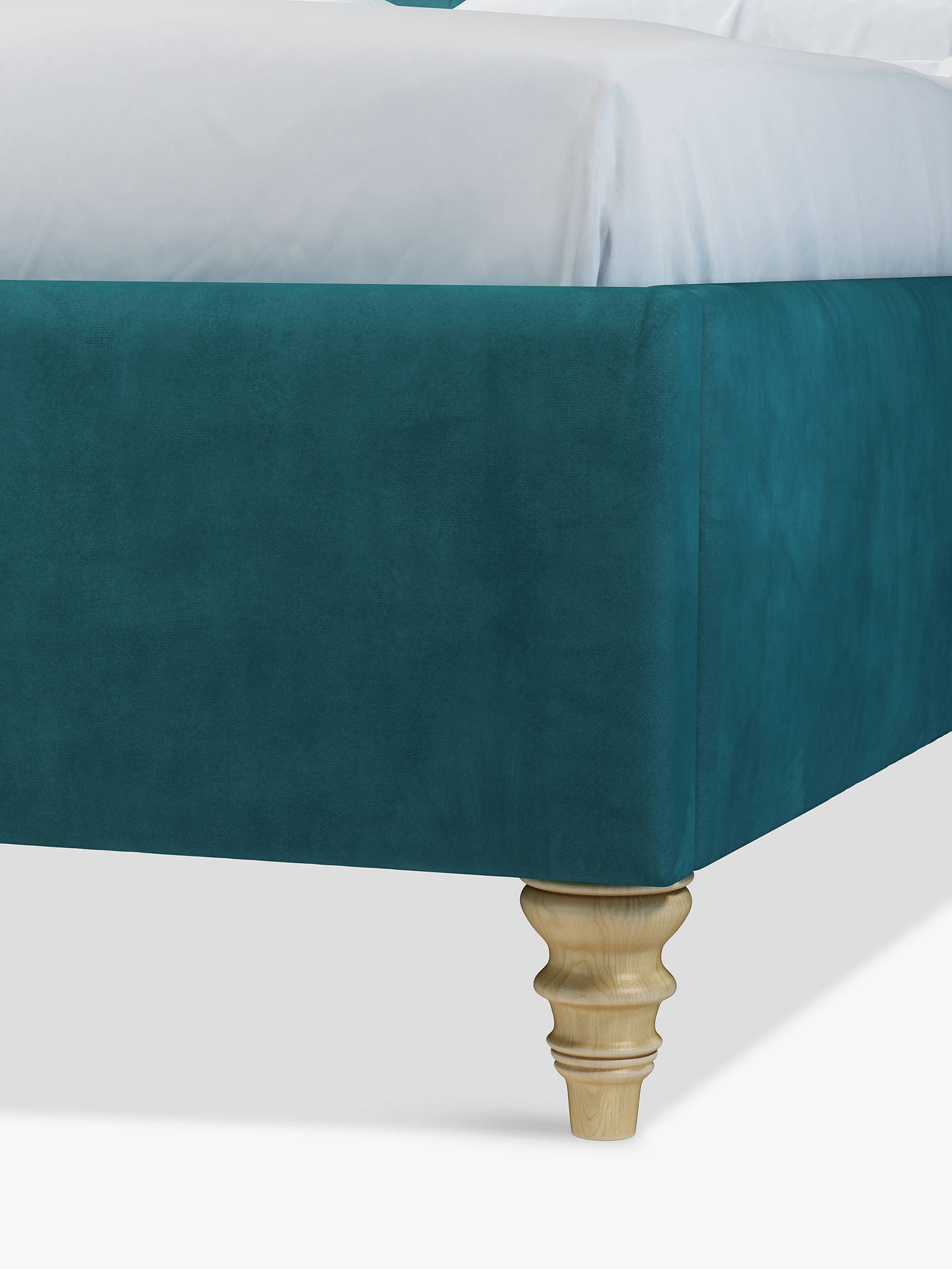 Buy John Lewis & Partners Rouen Upholstered Bed Frame, Double, Opulence Teal Online at johnlewis.com