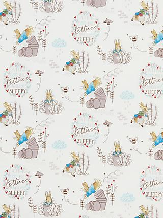 Create and Make Peter Rabbit With Lettuce Print Fabric, White