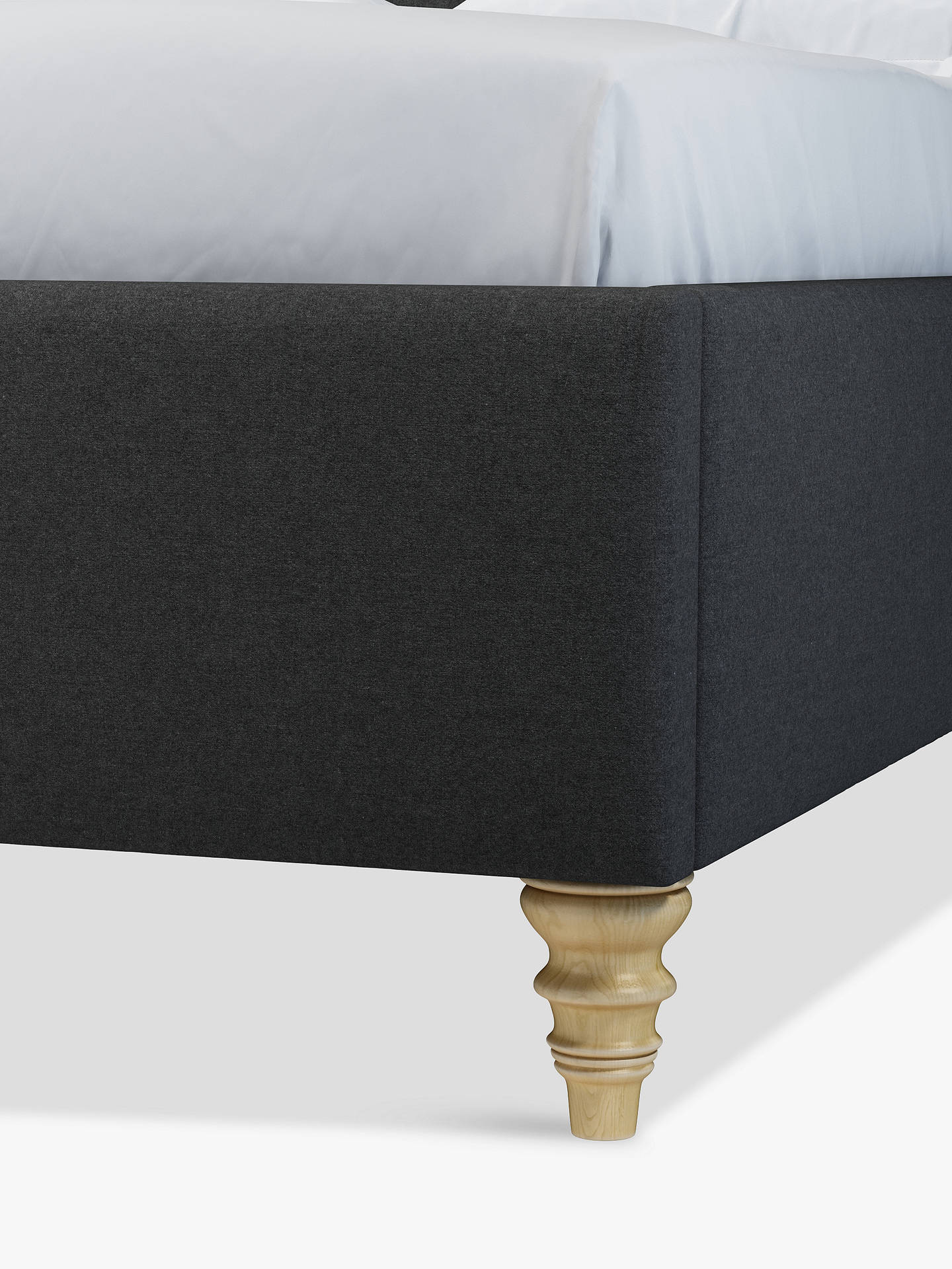 Buy John Lewis & Partners Rouen Upholstered Bed Frame, Double, Mole Charcoal Online at johnlewis.com