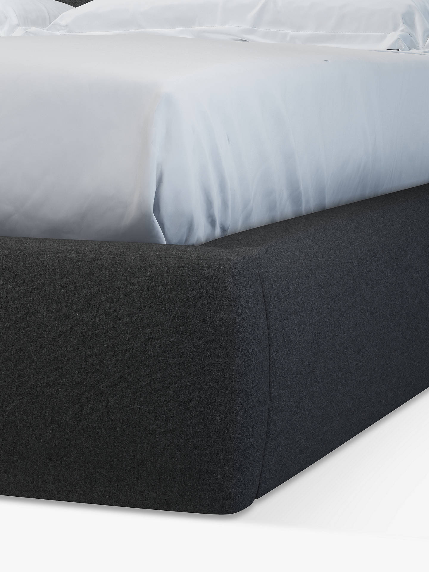 Buy Design Project by John Lewis No.152 Ottoman Storage Upholstered Bed Frame and Side Tables, Double, Mole Charcoal Online at johnlewis.com