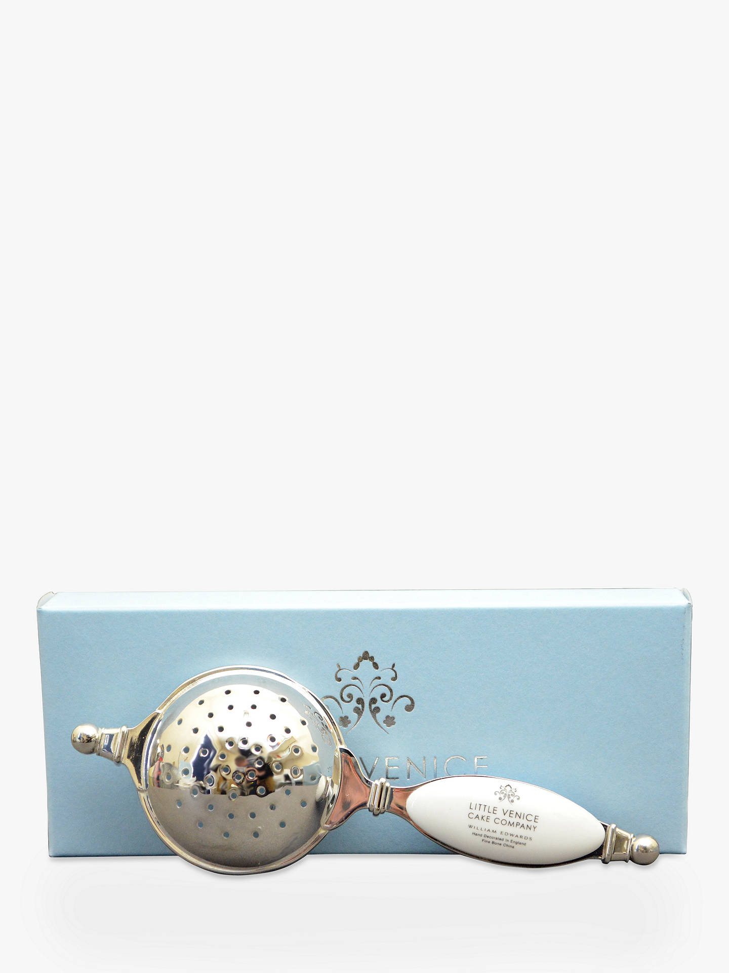 Buy Little Venice Cake Company Striped Tea Strainer, Blue/White Online at johnlewis.com
