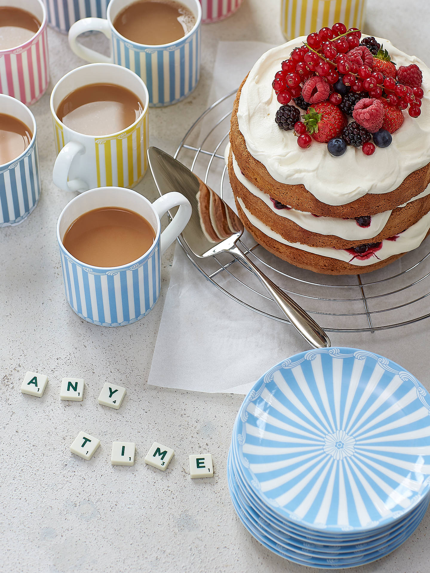 BuyLittle Venice Cake Company Striped Mug, 350ml, Yellow Online at johnlewis.com