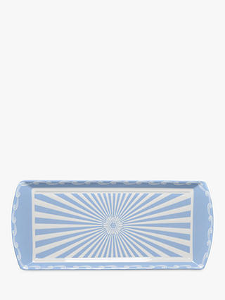 Buy Little Venice Cake Company Striped Cake Tray, Blue/White Online at johnlewis.com